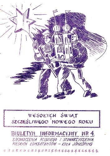 okładka Biuletynu Nr 4 z grudnia 1953