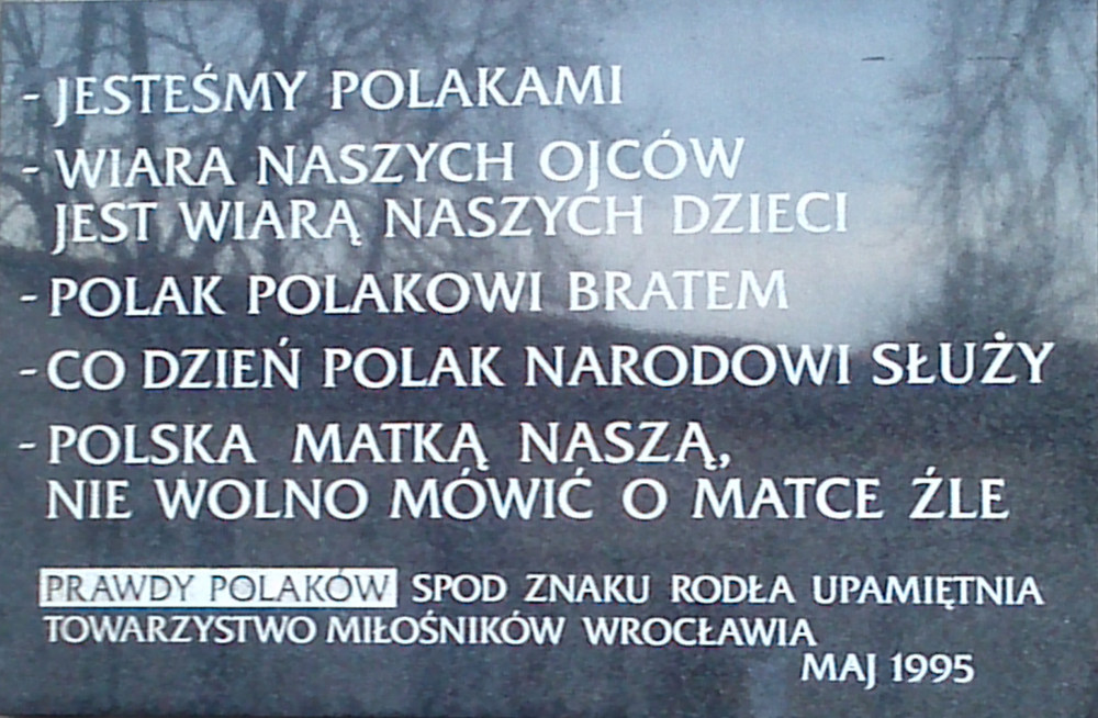 tablica na kościele św. Marcina